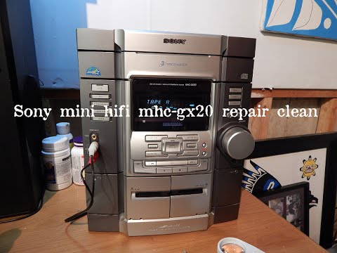 sony mini hifi mhc gx20 repair clean test youtube. Black Bedroom Furniture Sets. Home Design Ideas