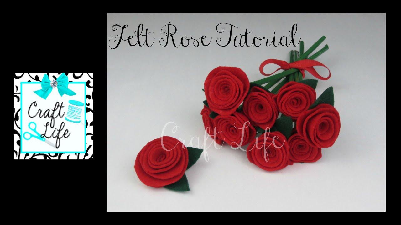 Craft Life Easy DIY Felt Rose Tutorial - YouTube