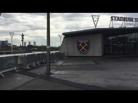 Walk up to West Ham new club store at Olympic Stadium