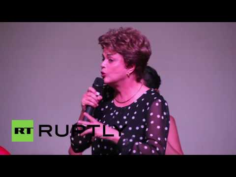 Brazil: Dilma in defiant mood during anti-Temer book launch