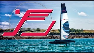 Foiling Catamaran iFLY®15 airborn. Flying for