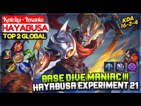 Maniac !!! Hayabusa Experiment 21 Skin Gameplay [ Top 2 Global Hayabusa ] Koteka • Insania Hayabusa
