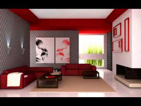 Red Living Room Wallpaper Decorating Ideas Part 73