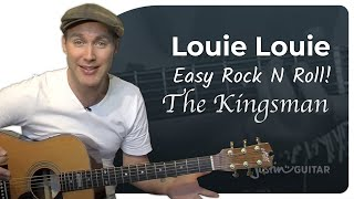 Louie Louie - The Kingsmen (Very Easy Songs Beginner Guitar Lesson BS-202) How to play