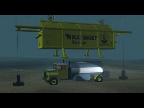 Mammoet Salvage - Robson Bight fuel truck salvage