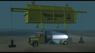 Mammoet Salvage - Robson Bight fuel truck salvage
