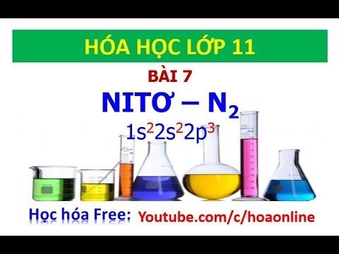 Hóa học 11 – Bài 7 – Nitơ