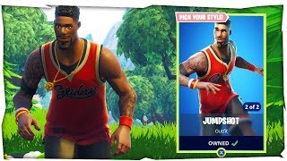 Fortnite Jumpshot Skin & Triple Threat Skin Gameplay (Fortnite New Basketball Skin)