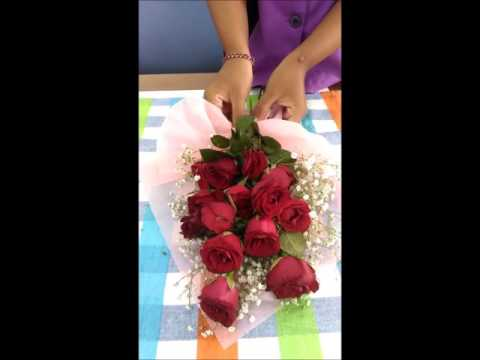 Easy way to make hand bouquet
