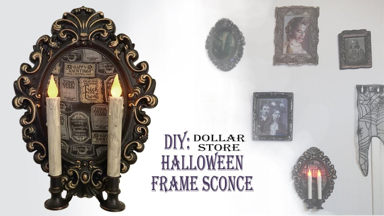 HALLOWEEN DIY / FRAME SCONCE - YouTube