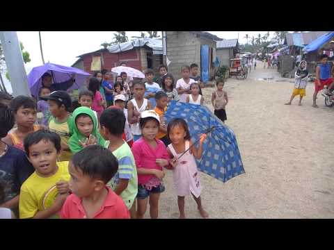 Little village in Samar after Typhoon Yolanda