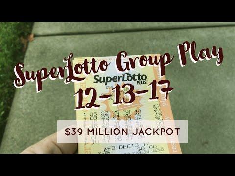 SuperLotto Group Play $39M - Good Luck 12.13.17