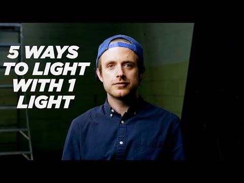 How To LIGHT With JUST ONE LIGHT!