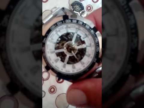 7711d3b1d4e Relógio Winner Skeleton Automático Original - YouTube