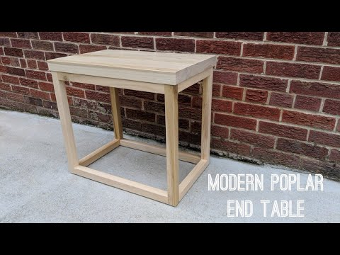 DIY Modern Poplar End Table | $40 Materials | NATHAN BUILDS