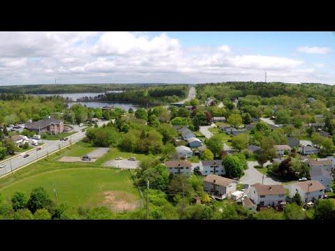 Aerial video near Nova Scotia Community College Akerley Campus, Dartmouth, Nova Scotia