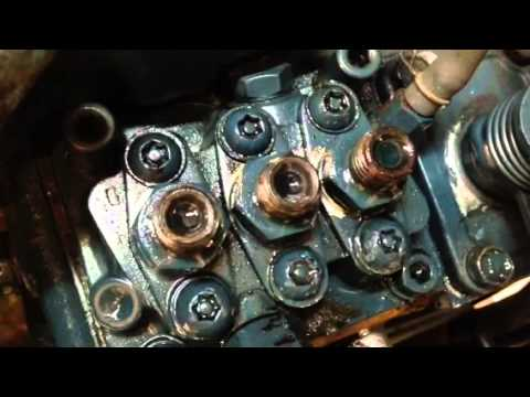Checking injector timing on cub 1572 - YouTube