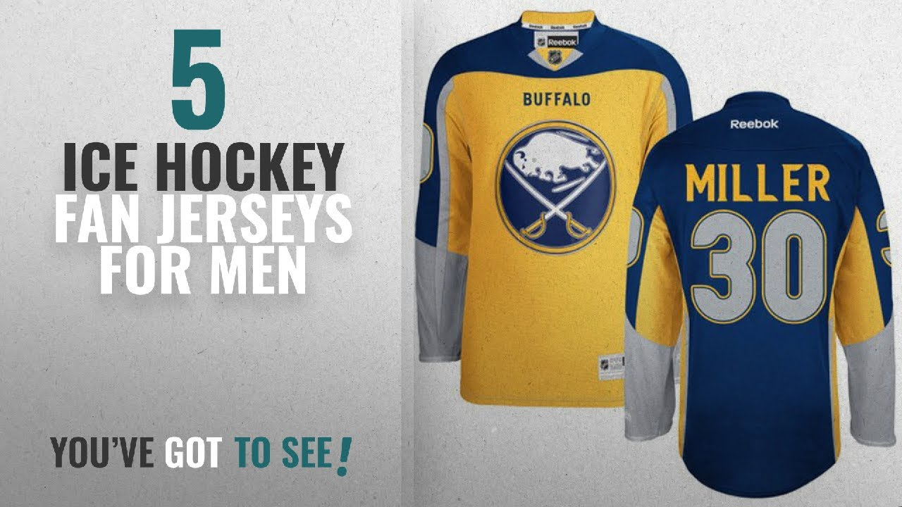 Top 10 Ice Hockey Fan Jerseys For Men  2018   Buffalo Sabres Premier Sewn  NHL Ice Hockey Jersey - d20736c1b