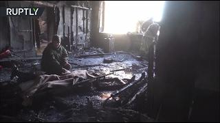 Обстрелянный из огнемёта кабинет Гиви