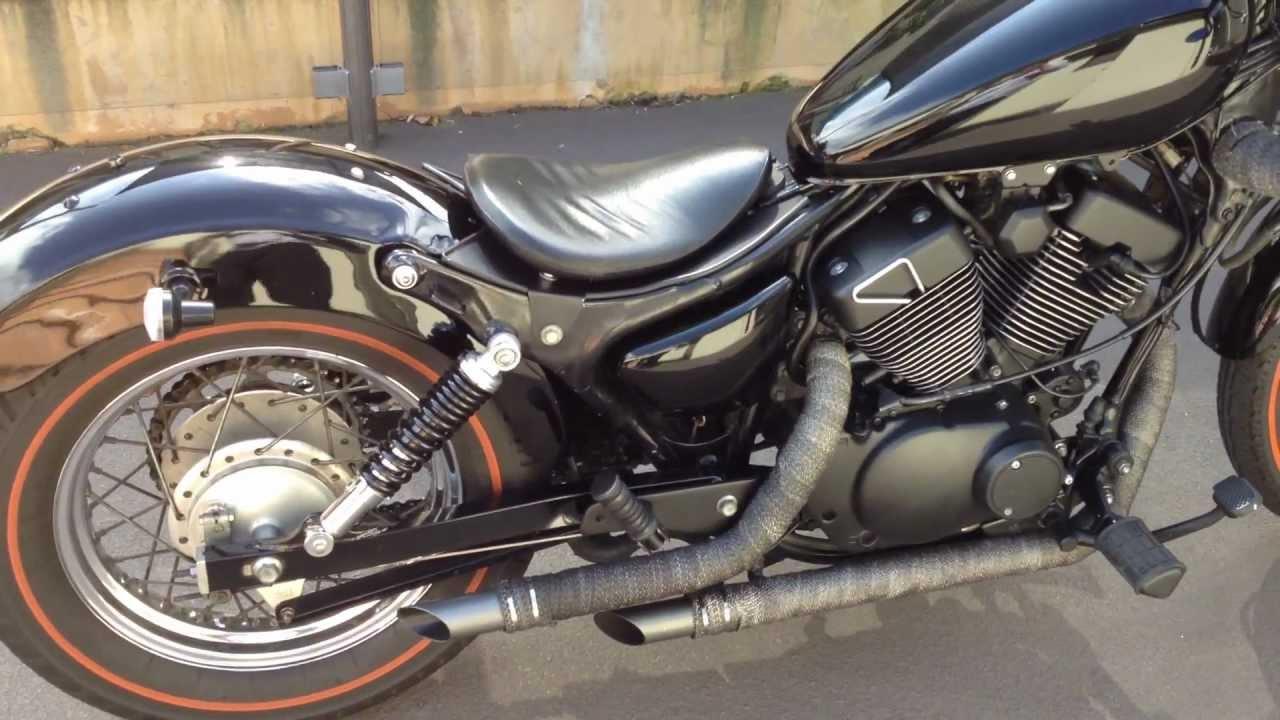 SOLD Custom Yamaha Virago 250 exhaust - YouTube