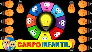 Juego de Ruleta de Colores con un Foco | Campo Infantil