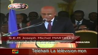 Haiti Politics:  -  President Michel Joseph Martelly Speech in Gonaives  1-1-2014