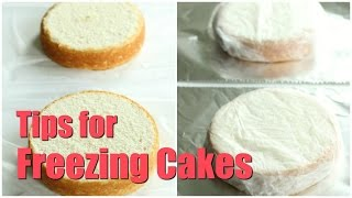 Tips for Freezing Cakes