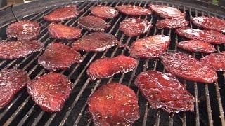 How To Make Bourbon Beef Jerky on Weber Smokey Mountain
