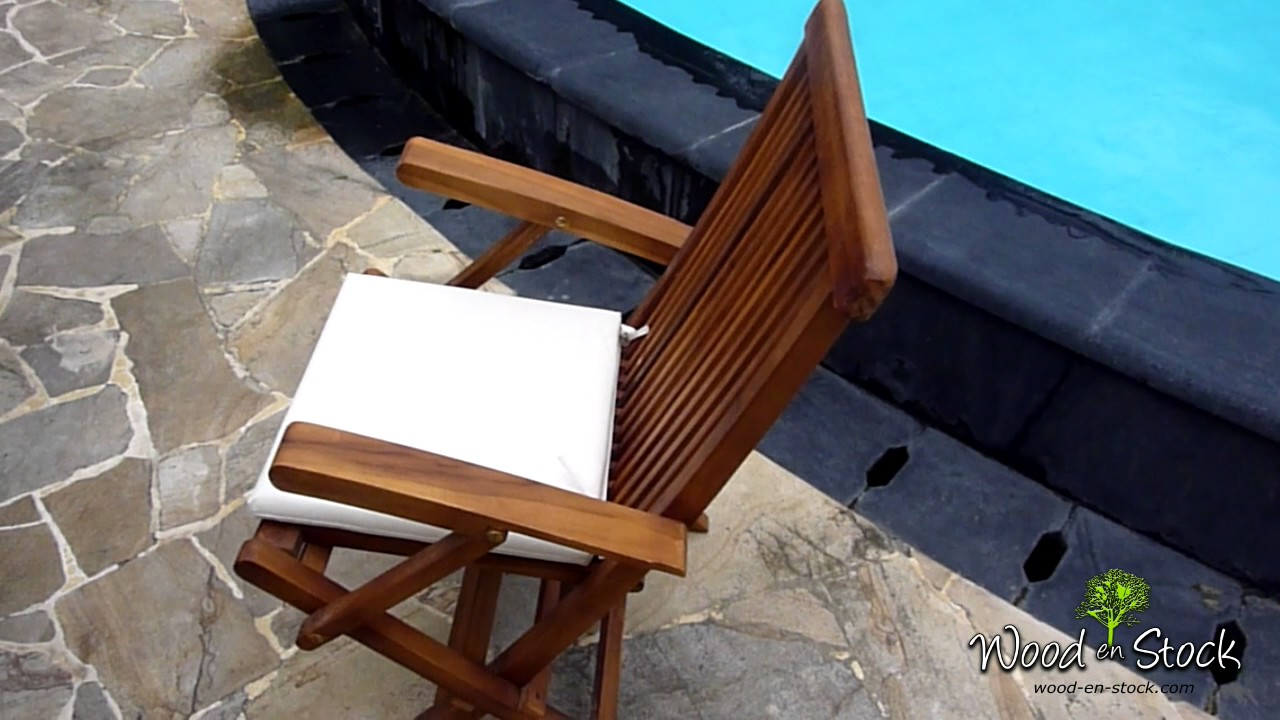 coussin pour chaise pliante et fauteuil de jardin youtube. Black Bedroom Furniture Sets. Home Design Ideas