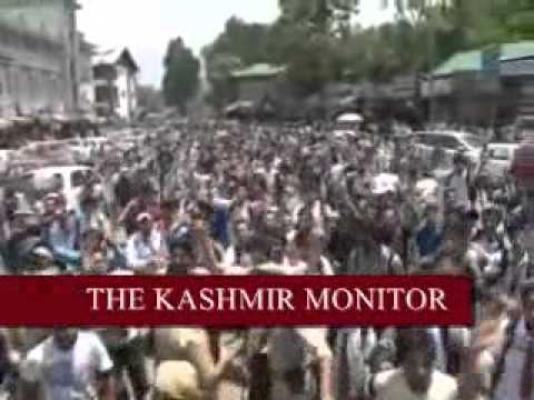 Kashmiri students stage protest against Israeli aggression