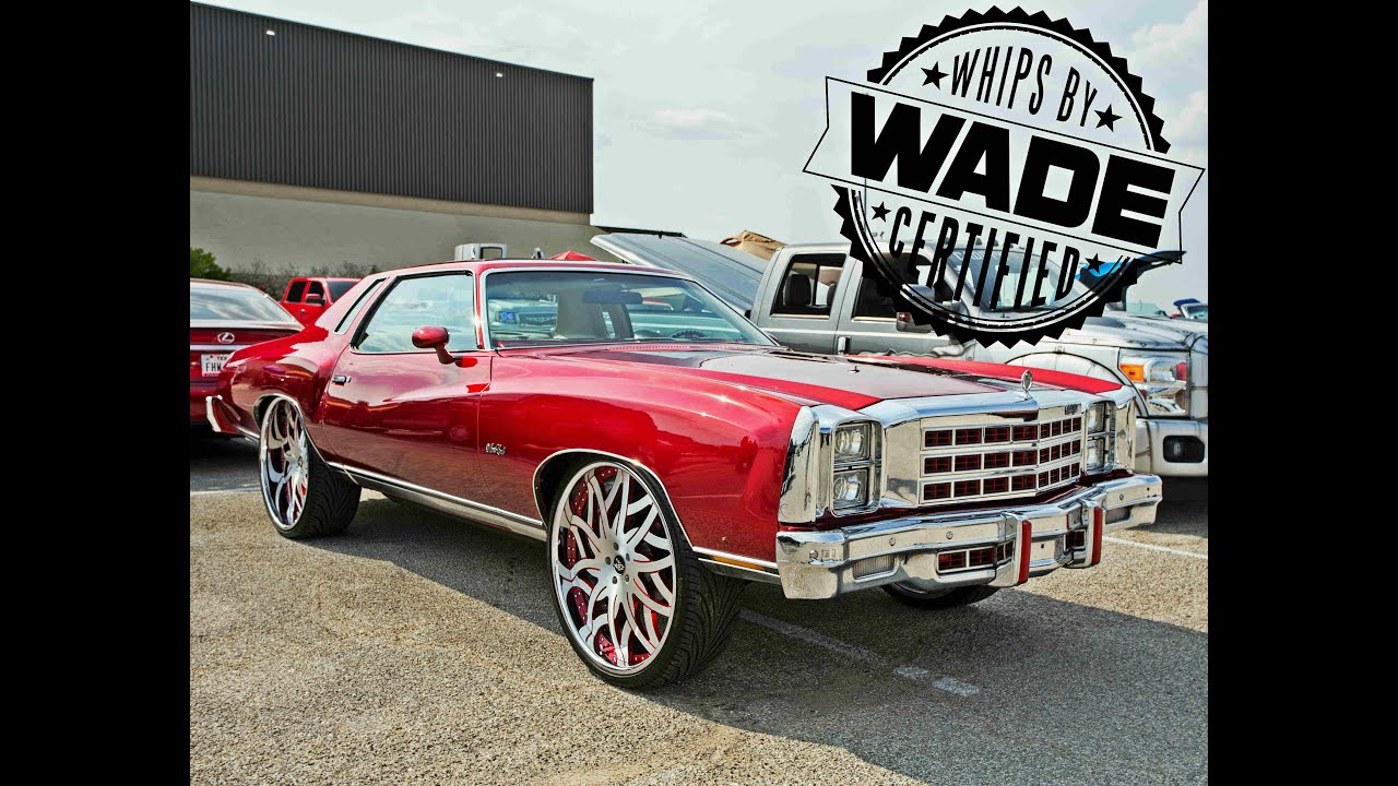 """Big Boys Customs Car Show : Candy Red Monte Carlo on 26"""" Wheels ..."""