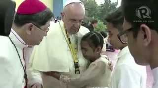 Pope Francis shaken by ANAK-TNK street children