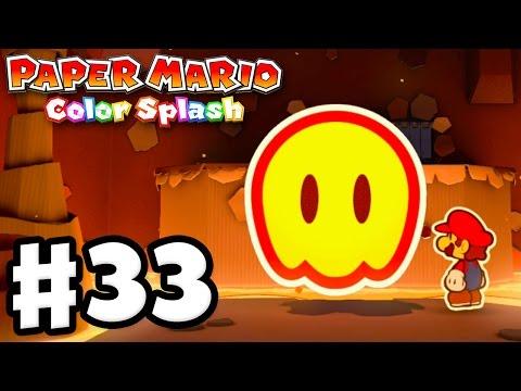 Paper Mario: Color Splash - Gameplay Walkthrough Part 33 - Redpepper Crater 100%! (Nintendo Wii U)