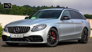 2019 Mercedes-AMG C63 S Estate Exterior Interior Design & Driving Footage