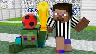Monster School : Kung Fu Football (Bad Monster vs Good Monster) - Minecraft Animation