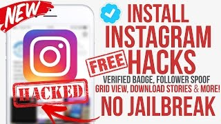 Get Instagram Hacks for IOS 9 - 10.2 / Followers Spoof / Verified Profile / Download Stories