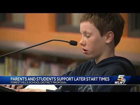 Most parents, students support later start times proposed in this district