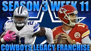 The Most Dominating Game in Nfl History! Madden 18 Cowboys Franchise | Legacy Season 3 Week 11