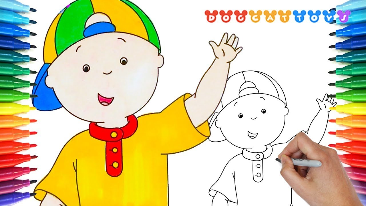 CAILLOU, Coloring Book #59 | Cute Drawing & Coloring * DogCatToys ...