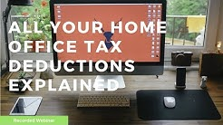 Home office deductions explained.