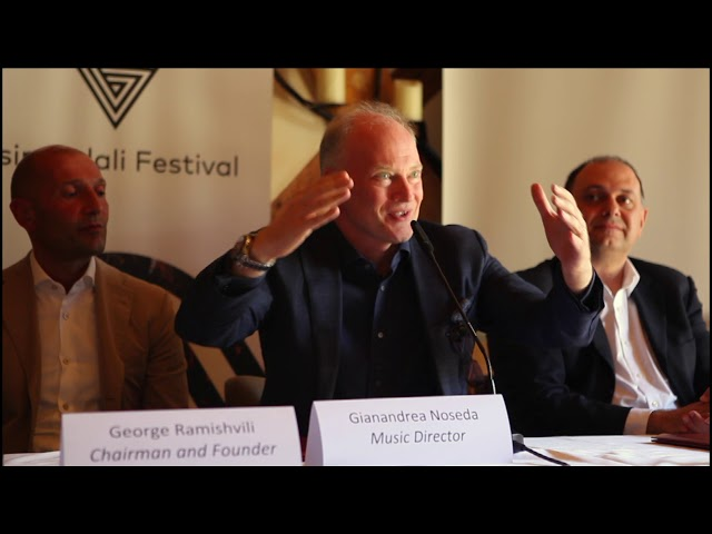 Gianandrea Noseda Speech - 2 August Tsinandali