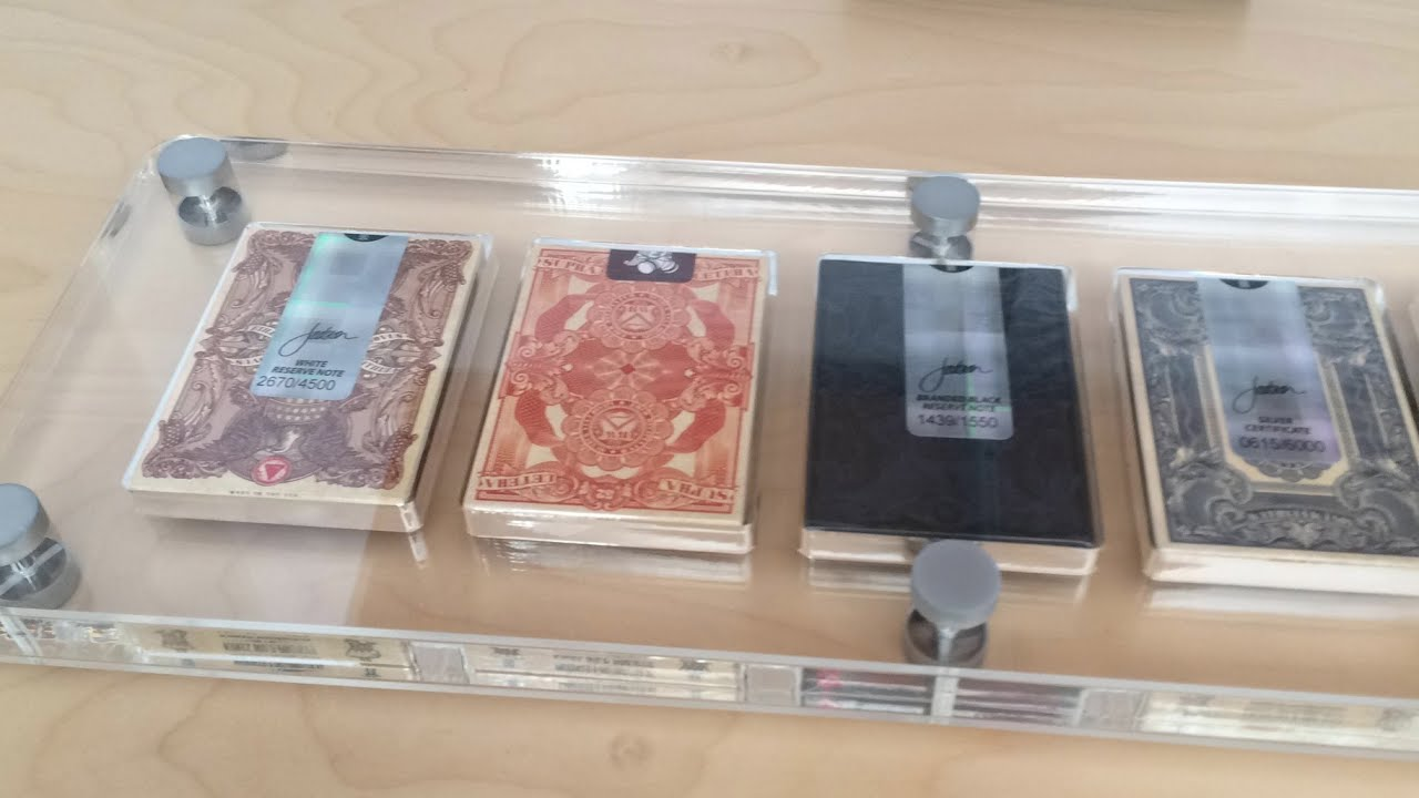 Incroyable 1st Look 5 Deck Lucite Playing Card Case By Gamblers Warehouse