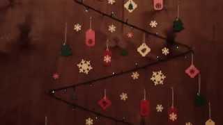 видео Новогодние дизайнерские елки своими руками