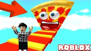EATEN BY A GIANT PIZZA?! | Roblox!
