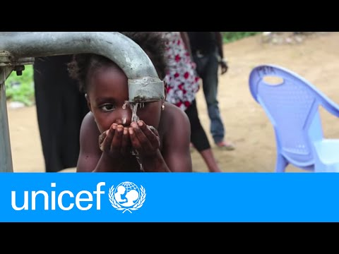 Drilling for safe drinking water in the DRC | UNICEF