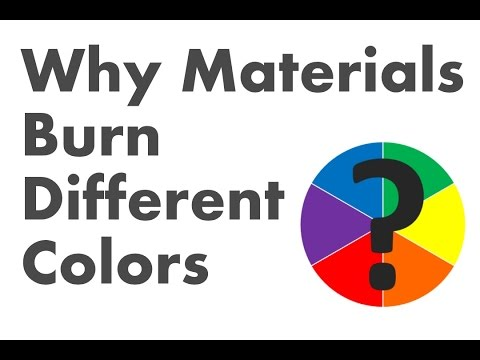 Why materials burn different colors