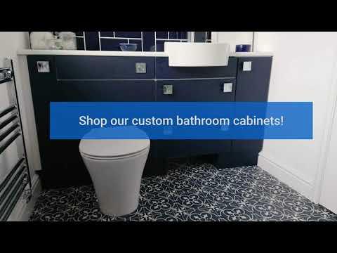 Custom Bathroom Cabinets | Phone : +44 2392586616 | paramountbathrooms.co.uk