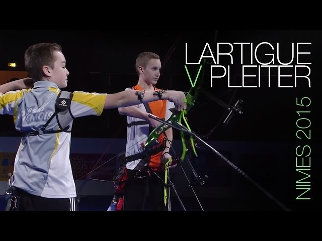 Lartigue v Pleiter – recurve U15 men's gold medal match | Nîmes 2015