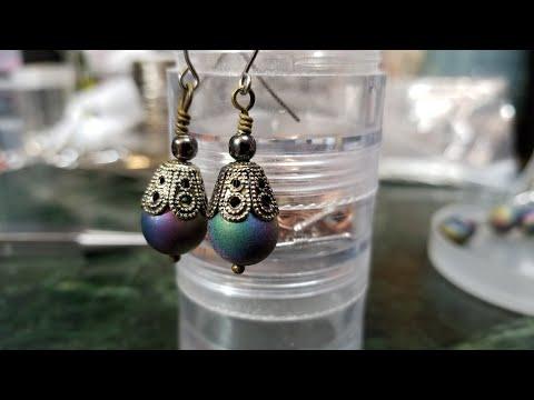 Beginner Wire wrap Earrings