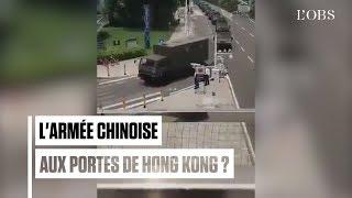 Des images de blindés aux portes de Hong Kong diffusées par les médias publics chinois